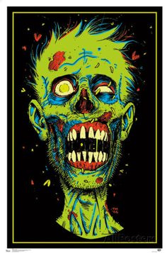 Zombie Blacklight Poster Photo at AllPosters.com