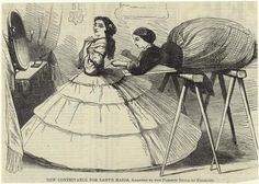 New Contrivance for Ladys Maids. Unidentified publication, 1857. NYPL Digital Gallery.
