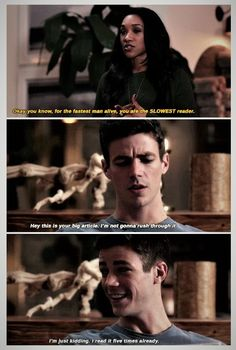 Aww, I love how Barry and Iris mess with each other <3 |TV Shows||CW||#The Flash funny||Barry Allen||Iris West||#Westallen edit||Grant Gustin||Candice Patton|