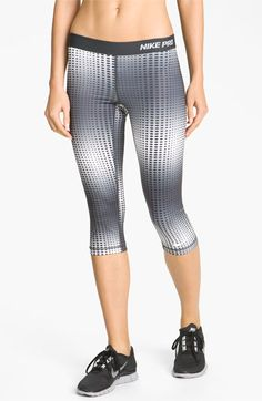 Hmmm. Not sure Mota can pull these off.  Nike 'Pro II' Print Capris   Nordstrom