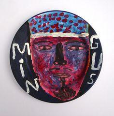 """Mingus"" by Jonny Hannah (Painted Enamel Plate)"
