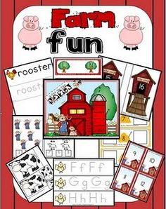 ABC and Farm Themed Learning Activities for Preschool and Elementary Children Farm Activities, Preschool Themes, Preschool Farm, Spring Activities, Preschool Printables, Preschool Lessons, Classroom Themes, Educational Activities, Tot School