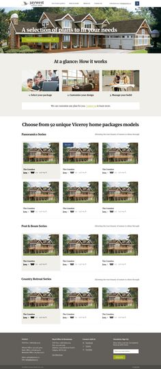 Jaywest country homes website layout