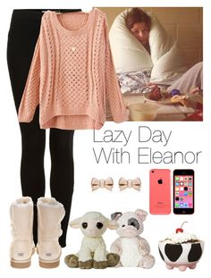 """Lazy Day With Eleanor"" by heslovely ❤ liked on Polyvore featuring Topshop, UGG Australia, Laura Lee, Thomas Sabo, Boston Warehouse, women's clothing, women's fashion, women, female and woman"