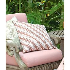 Pine Cone Hill Antique Batik Pink Pillow ($88) ❤ liked on Polyvore featuring home, home decor, throw pillows, inspirational home decor, pine cone hill, pink floral throw pillows, floral home decor and pink home decor