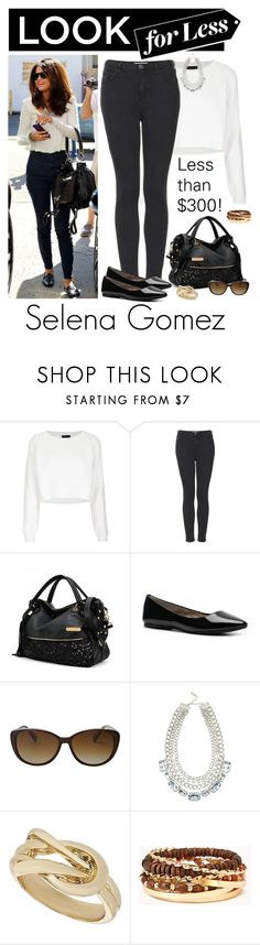"""""""Look for Less: Selena Gomez"""" by stephiebees ❤ liked on Polyvore featuring Topshop, Steve Madden, FOSSIL, Wallis, Forever 21 and celeblookforless"""