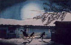 浮世絵の夜景ー葛飾応為《吉原格子先の図》 @太田記念美術館の画像:Art & Bell by Tora