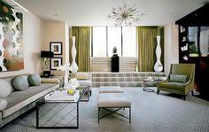 20 Bold Art- Deco Inspired Living Room Designs