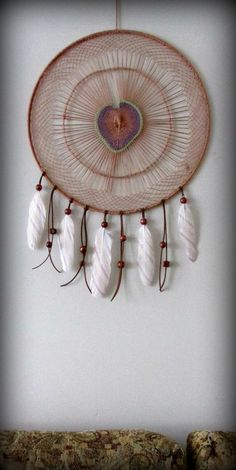 Large Dream catcher Dream catcher wall hanging Boho by FineBubbles