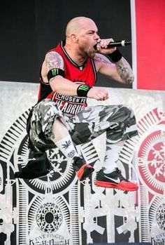COLUMBUS, OH - MAY 18: Ivan Moody of Five Finger Death Punch performs during 2014 Rock On The Range at Columbus Crew Stadium on May 18, 2014 in Columbus, Ohio.