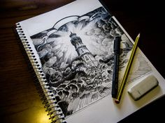 Untitled (maybe a Lighthouse Tattoo sketch) by Lukeeno on deviantART