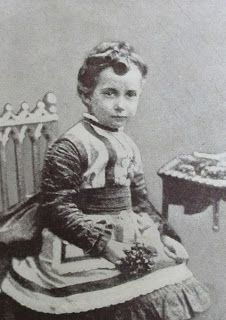 Queen Maud as a little girl. Maud was Haakon VII's consort, and she was a daughter of Queen Alexandra and King Edward VII of Great Britain.Marie Poutine's Jewels & Royals