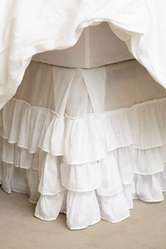 Greenland home fashions multi-ruffle bedskirt 78