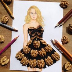 Armenian Fashion Illustrator Creates Stunning Dresses From Everyday Objects Pics) - The crowd will go nuts over this artistic creation.