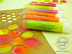 New Gelatos colors from the Brights collection on canvas!