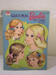 1975 BARBIE QUICK CURL COLORING BOOK