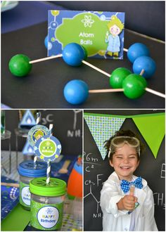 Weird science: How about a laboratory of ideas for a Mad Scientist birthday bash? Smart and clever! #birthday #boys #diy