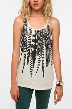 Urban Outfitters - Title Unknown Falling Feather Crossback Tank Top