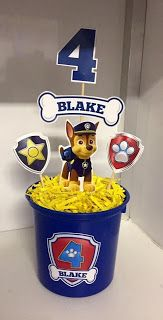 If you like PAW Patrol or the canine patrol, you're in luck today we bring you several decorating ideas for PAW Patrol's birthday or the c. Paw Patrol Pinata, Paw Patrol Party Favors, Paw Patrol Party Decorations, Paw Patrol Cake, Paw Patrol Birthday, Paw Patrol Centerpieces, 2 Birthday, 6th Birthday Parties, Paw Patrol Christmas