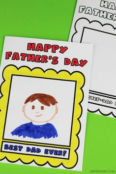 Print, colour and draw on these free Fathers Day colouring cards - get your child to create a portrait of their dad (or step-father) with these fun cards dads will love! Mason Jar Crafts, Mason Jar Diy, Preschool Crafts, Crafts For Kids, Easy Crafts To Sell, Diy Crafts, Father's Day Printable, Earth Day Crafts, How To Make Paper Flowers