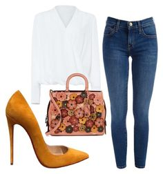 """""""Casual"""" by lizzythedizzy on Polyvore featuring Christian Louboutin, Damsel in a Dress and Coach 1941"""