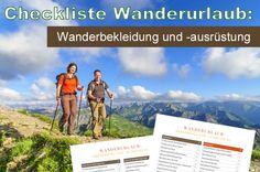 Checkliste Wanderurlaub – Bekleidung und Ausrüstung