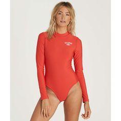 Mock Neck Bodysuit Rashguard RED PEPPER