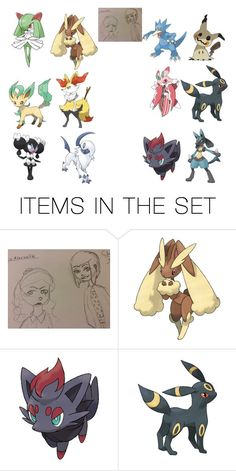 """""""Alice and Chaume's Pokémon Teams"""" by kawaiifangirl11 ❤ liked on Polyvore featuring art"""