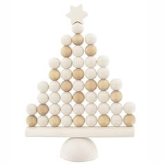 Add festive style to your interiors with this white Nordic Christmas tree table top and mantelpiece ornament. Christmas Tree Table Decorations, Christmas Tree On Table, Wooden Christmas Trees, Noel Christmas, Scandinavian Christmas, Decoration Table, All Things Christmas, White Christmas, Christmas Crafts