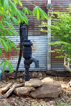 This old pump was in the yard when we bought the property. I love it!