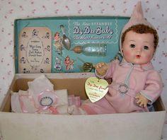 Vintage Effanbee Dy-Dee Jane with layette.