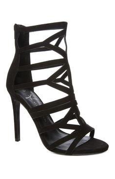 Black strappy heel primark