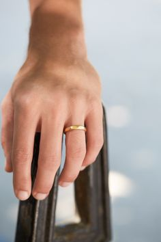 Yellow gold ring for me
