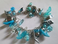 Blue  and Silver Barbie shoe Bracelet by ZoesBarbieShoes on Etsy