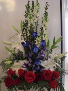 http://www.unny.com It's beautiful funeral flowers arrangement.