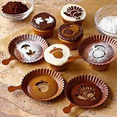 wholekitchen: Plantillas otoñales para decorar nuestros cupcakes