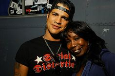 Slash with his mother Ola Hudson in 2007.