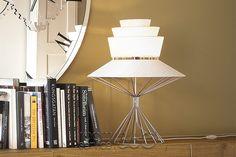 Bolero Modern Table Lamp by Oriano Favaretto for Cattelan Italia Unique Table Lamps, Contemporary Table Lamps, Modern Table, Light Table, Things To Come, Lights, Antiques, Frame, Design