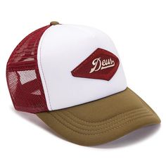 The Diamond trucker hat is a part of the Deus Vintage Tour collection.Standard Trucker Hat Features:- Polyester Interlock Nylon Mesh- Front Embroidered Patch Artwork- Plastic Snap Adjuster - Back Woven LabelWash Care: Hand wash in cold water Baseball Cap Outfit, Baseball Hats, Cap Girl, Mesh Cap, Dad Hats, Snapback Cap, Hats For Men, Trailer Storage, Jan 20