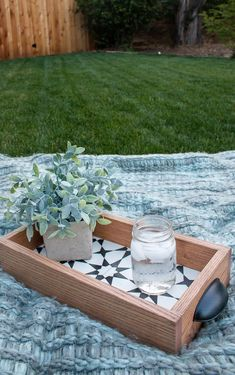 We had some leftover cement tile from our bathroom renovation so we made a DIY tray with wood! Spoiler alert - it turns out SO cute! Treatment Projects Care Design home decor Design Furniture, Diy Furniture, Outdoor Furniture Sets, Outdoor Decor, Tile Projects, Diy Wood Projects, Upcycled Crafts, Tile Crafts, Wood Crafts