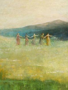 1890Thomas Wilmer Dewing (American, 1853-1938) ~ 'Spring'