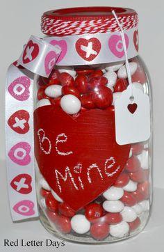 Valentines Day Mason Jar Valentines Gift by RedLetterDaysStudio