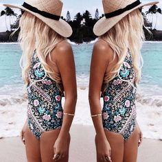 Product Description: (Free Shipping) Retro Sexy Floral Monokini High Cut One Piece Swimsuit by PesciModa Item Type: One Pieces, Sport Type: Swim, Gender: Women, Fit: Fits smaller than usual. Please ch