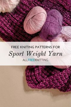 All Free Knitting, Easy Scarf Knitting Patterns, Easy Knitting Projects, Finger Knitting, Knitting Ideas, Knit Patterns, Crochet Sweaters, Knit Or Crochet, Sport Weight Yarn