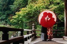 和装前撮りの定番アイテム『和傘』を使ったフォトアイデア♩ | marry[マリー]