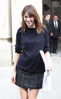 Alexa Chung I Tweed & Sweatshirt