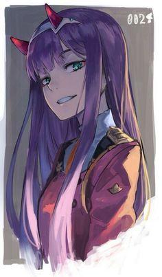 Zero Two // Darling in the Franxx Chica Anime Manga, Otaku Anime, Anime Art, Image Manga, Estilo Anime, Zero Two, Best Waifu, Darling In The Franxx, Kawaii Anime Girl