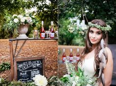 Foliage Inspired Styled Shoot. Florals: Seventh Stem  Make Up: Carrie Hamm Photography: Nikie Rhodes Stylist: Mandy Riggar Feathers: Sahlia Michelle Jewelry Design