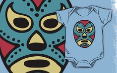 Mexican wrestling mask baby clothing