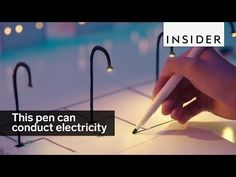This pen makes drawings that conduct electricity #tech #future #ads